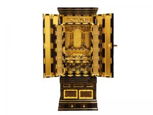 細部まで本金箔で仕上げた名古屋仏壇です。