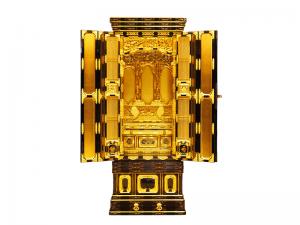 伝統工芸師作の本漆塗りの国産仏壇です。