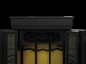 繊細な図柄の黒檀の無垢欄間が人気の黒檀仏壇です。