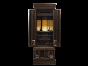 3尺仏間用の上品な本黒檀国産仏壇です。