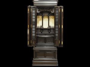 3尺仏間に収まる本黒檀の上品な国産仏壇です。