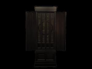 シンプルな中に重厚感のある国産品の黒檀仏壇です。
