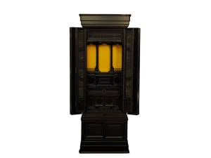 コンパクトサイズの黒檀材で製作した国産仏壇です。