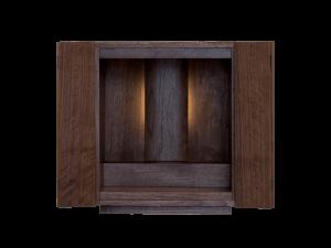 高級感のある色調と木目が家具にも調和する創作仏壇です。