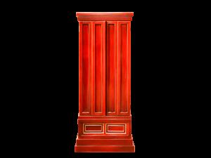 春慶塗りならではの濃淡のある深みと本金箔のコントラストが美しい春慶仏壇です。