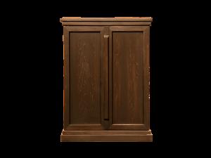 無垢材に天然漆を摺り込み家具に調和する深みのある色合いが特徴です。