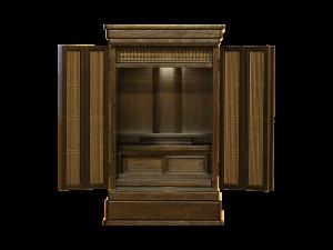 欄間や扉の組子には神代杉の千本格子を使用しております。