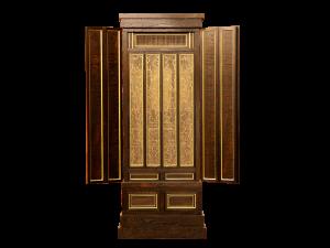 欄間や障子には神代杉の千本格子を使用しております。