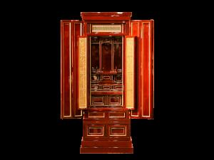 厳選された国産素材を,細部にまで拘った春慶仏壇です。