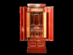3尺仏間に収まる春慶仏壇です。
