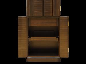 可動式のスライド式の供物棚も装備しております。
