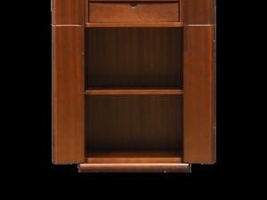 下台には可動式の棚が付いており骨壺の安置スペースとして使用できます。