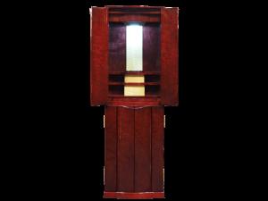カエデ科の希少な木材のバーズアイメープルを使用した国産仏壇です。